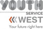 youth service logo with strapline white web size